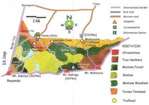 mgahinga-map