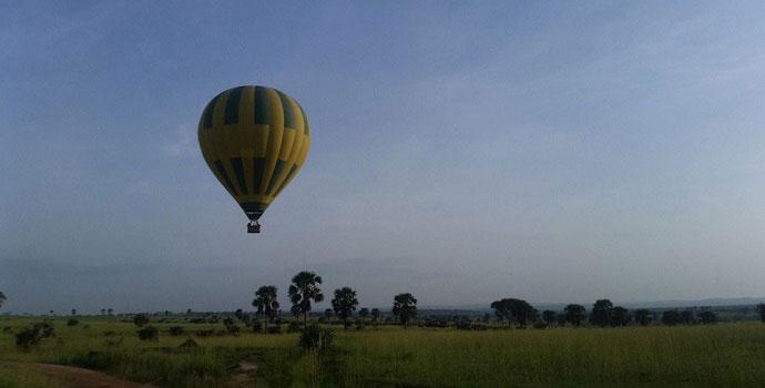 Hot air balloon safaris in Uganda