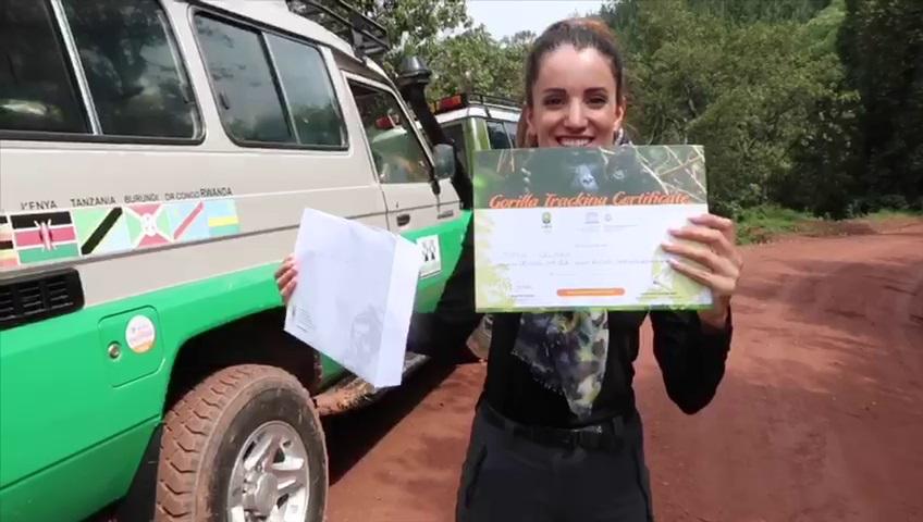 Gorilla trekking safari certificate